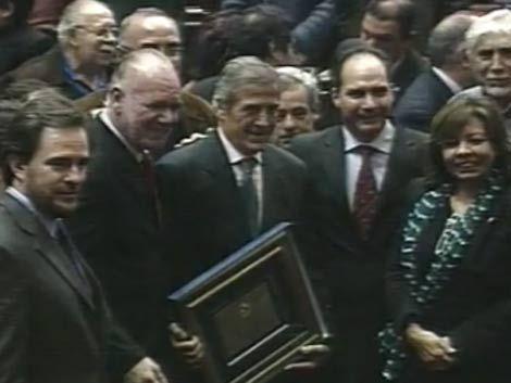 La foto con Tabárez fue lo más requerido en homenaje a la celeste