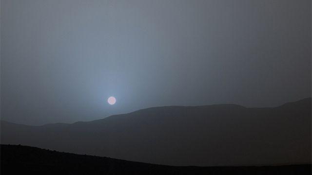 Así se ve el atardecer en Marte; el Curiosity lo fotografió