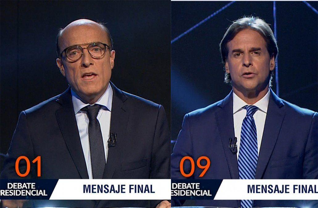Lacalle Pou pidió que confíen en él y Martínez que apoyen el proyecto político del FA