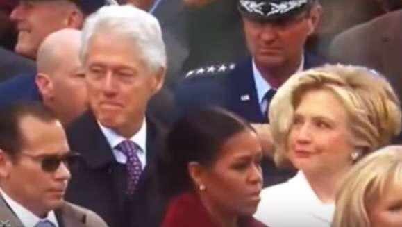 Los ojos libidinosos de Bill Clinton y la furia de Hillary en vivo por TV