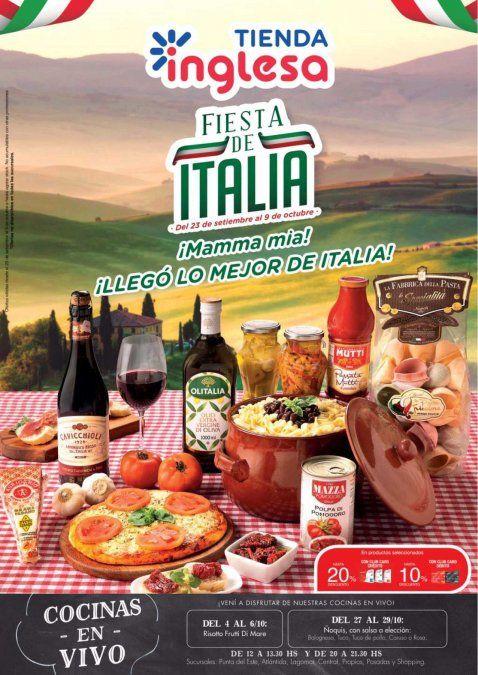 Se desarrolla la Fiesta de Italia en Tienda Inglesa