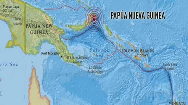 Terremoto de 7 grados en la escala Richter en Papúa, Nueva Guinea