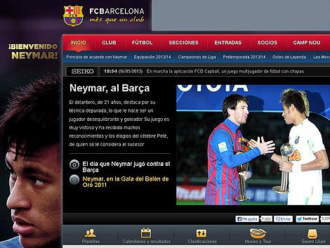 El Barcelona le da la bienvenida a Neymar; firman este lunes
