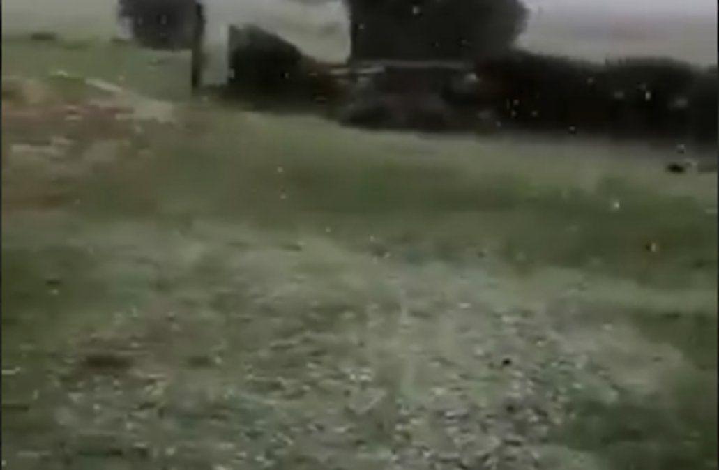 Un espectáculo: cayó nieve en Lavalleja y Maldonado, informó Meteorología
