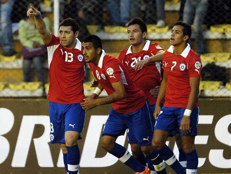 Chile le ganó 2 a 0 a Bolivia en La Paz