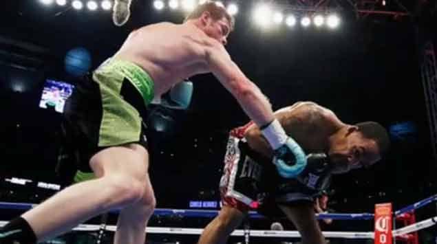 El knock-out del año: Canelo Álvarez mandó a dormir a James Kirkland