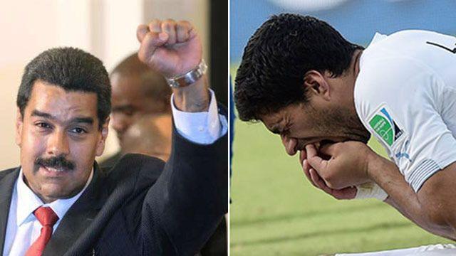 """Maduro habló sobre Luis Suárez y lo llamó """"el de los dientes afilados"""""""