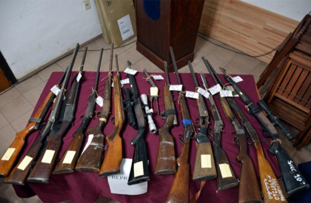 40 armas utilizadas para caza furtiva fueron incautadas en Colonia