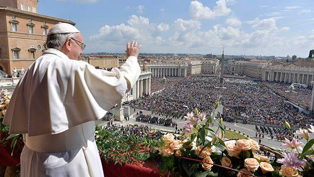 Papa Francisco imploró por la paz en Siria en la tradicional misa de Pascua