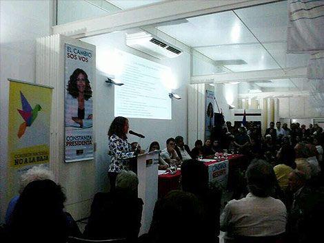 Constanza Moreira presentó líneas programáticas y jingle