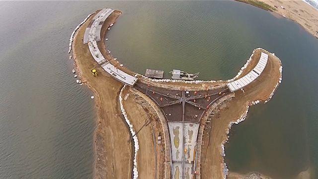 Así avanzan las obras en el puente sobre la Laguna Garzón