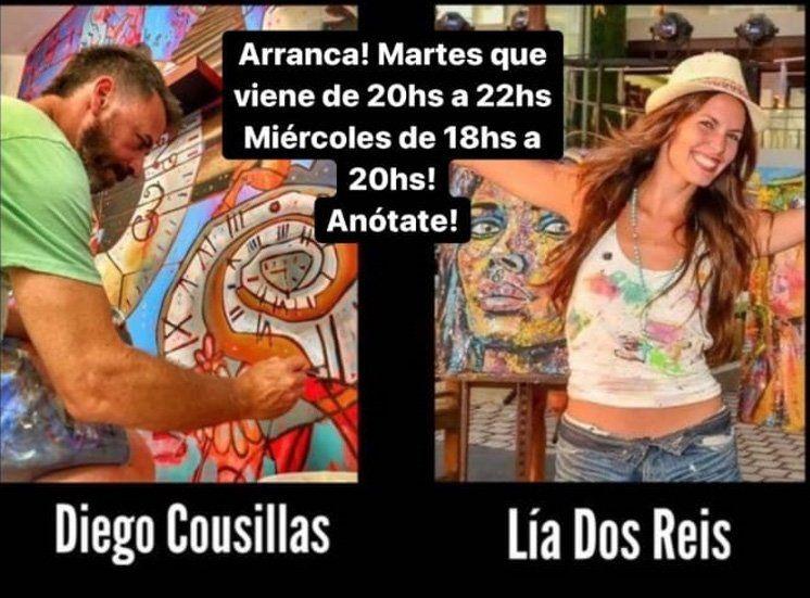 Talleres de arte de Diego Cousillas y Lia Dos Reis: proyectar el mundo interno a través de la plástica