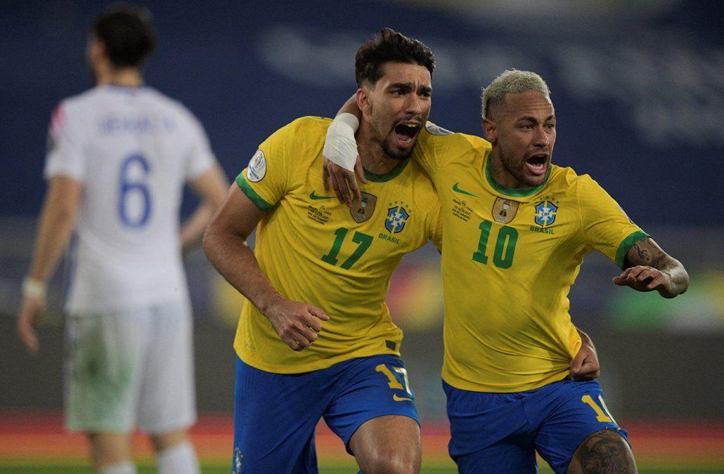 Brasil a semifinales de la Copa América al vencer 1-0 a Chile