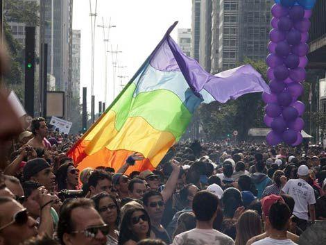 Marcha gay convoco 3.5 millones de personas en San Pablo