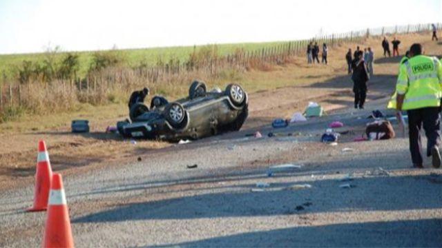 Bebé de 4 meses muere en ruta 105 tras despiste y vuelco de un auto