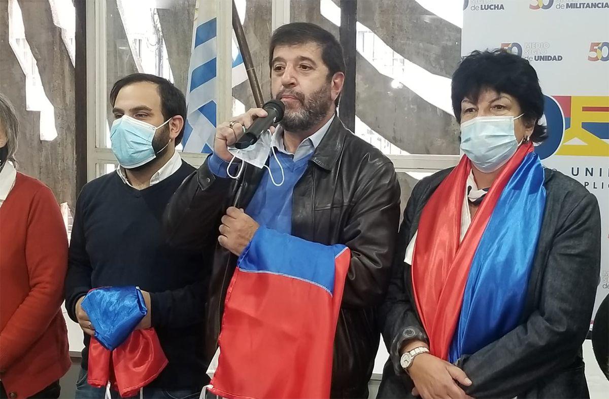 Fernando Pereira, Gonzalo Civila e Ivonne Passada van por la presidencia del Frente Amplio