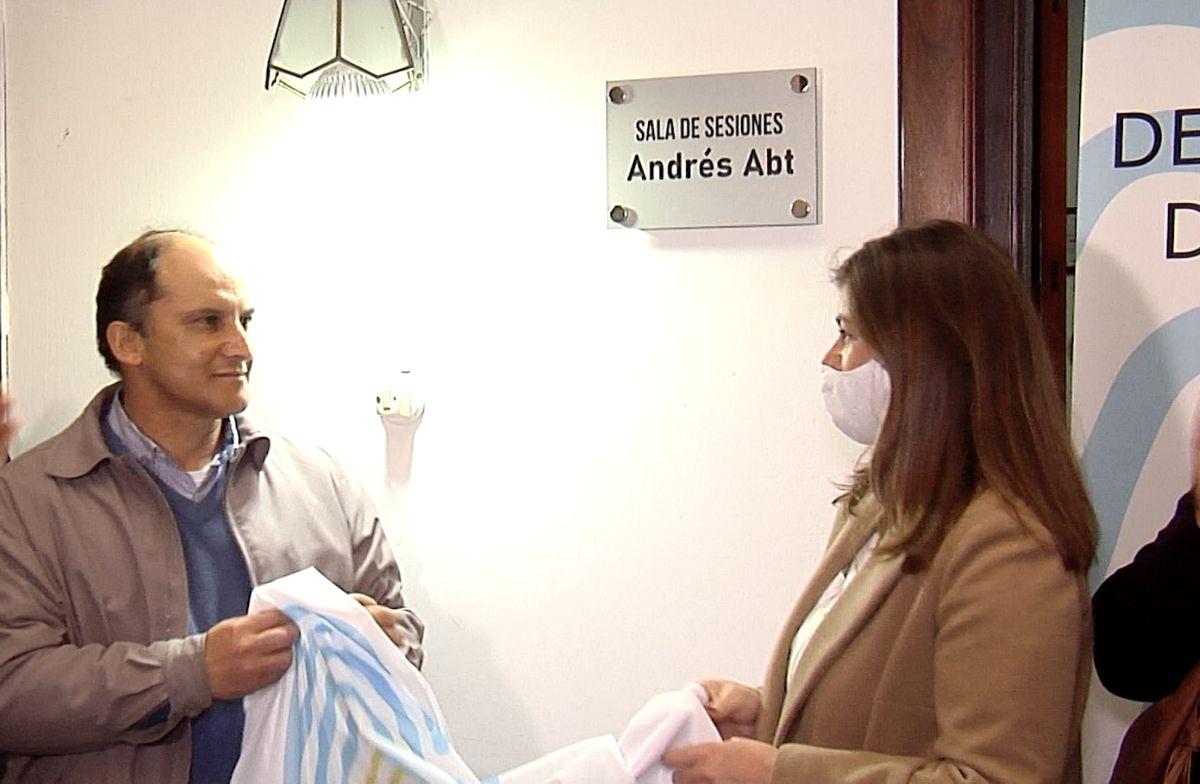 Homenaje a Andrés Abt.
