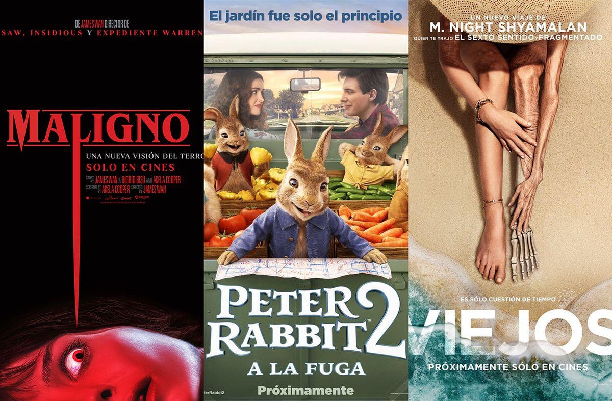 Para ver en el cine: Maligno, Peter Rabbit 2: conejo en fuga y Viejos