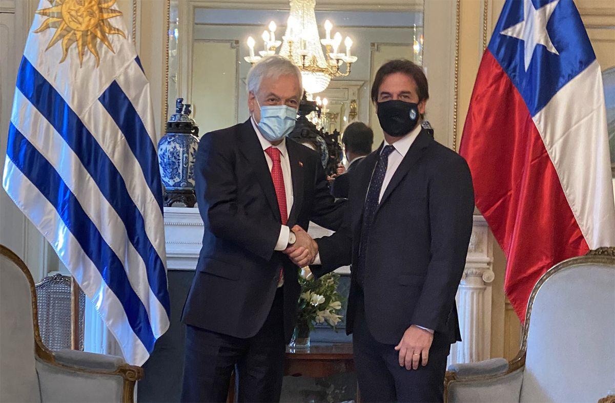 Piñera invitó a Lacalle Pou a participar del cable submarino que unirá América del Sur con Asia