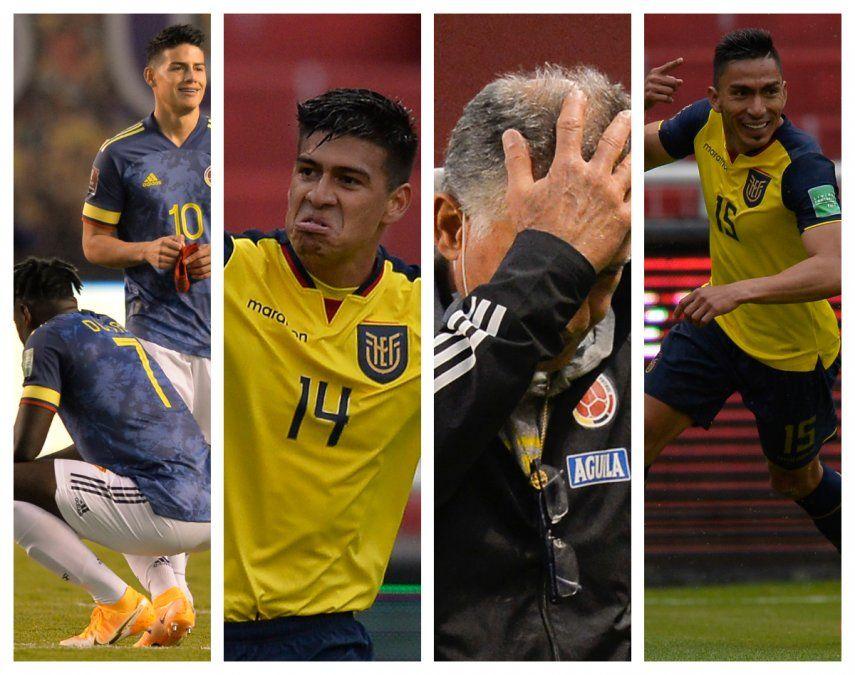 Colombia quedó sin orgullo ni honor al recibir una paliza de 6-1 por parte de Ecuador