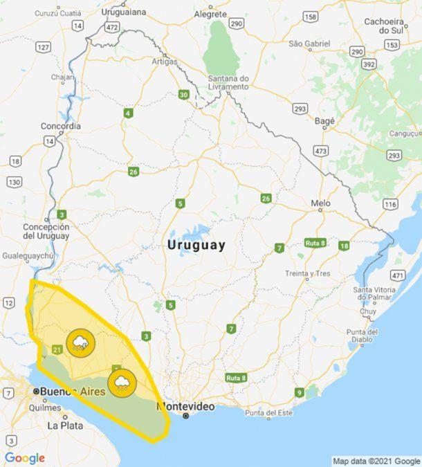 Nueva ola de frío polar desde el lunes alcanzará a todo Uruguay