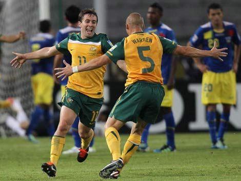 Ecuador y Australia empataron 1 a 1