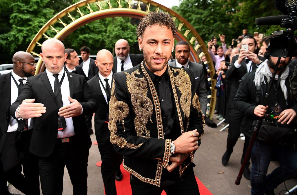 Neymar arrives for a TV show on May 13