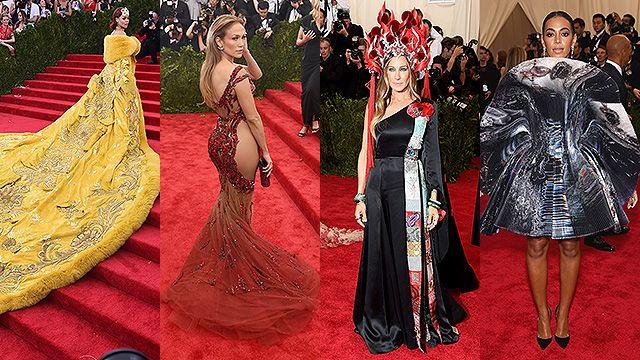 ¿Cuál te gusta menos? Mirá los vestidos de las famosas en una gala en NY