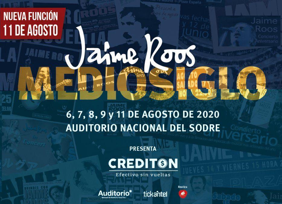 Reprograman los shows de Jaime Roos, esta vez por la final de la Copa Libertadores