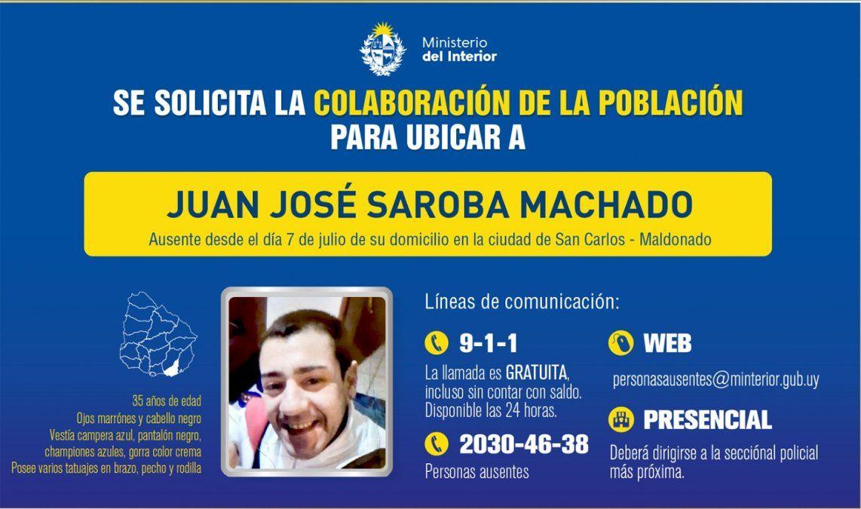 Policía pide colaboración para localizar a un hombre desaparecido hace dos días
