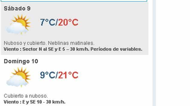 Fin de semana frío; temperatura máxima entre 20-21 grados