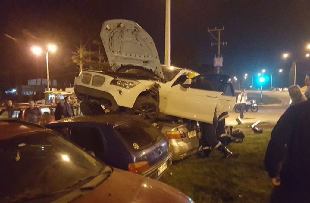 Impactante accidente en la Interbalnearia de Parque del Plata