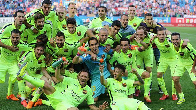 Barcelona campeón de la Liga Española; Suárez no pudo jugar