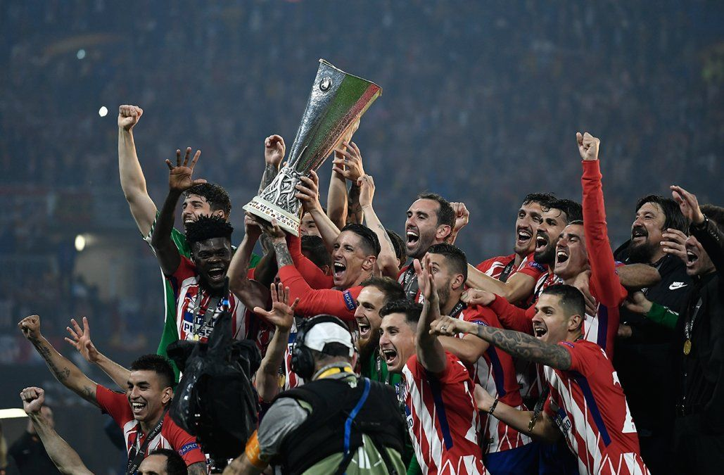 Godín y Josema campeones de la Europa League con el Atlético Madrid