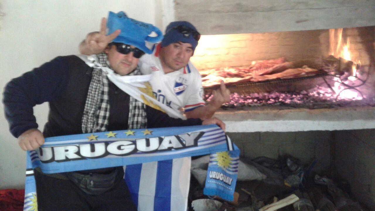 Así vieron el partido los hinchas uruguayos, vía Whatsapp