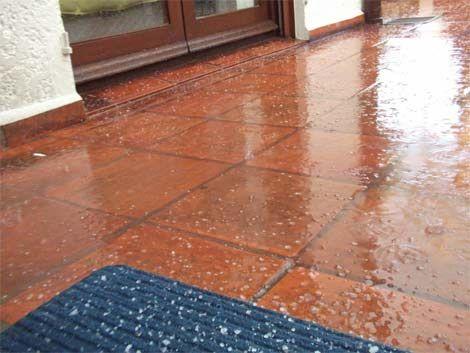 Lluvia y granizo en Buenos Aires y San José