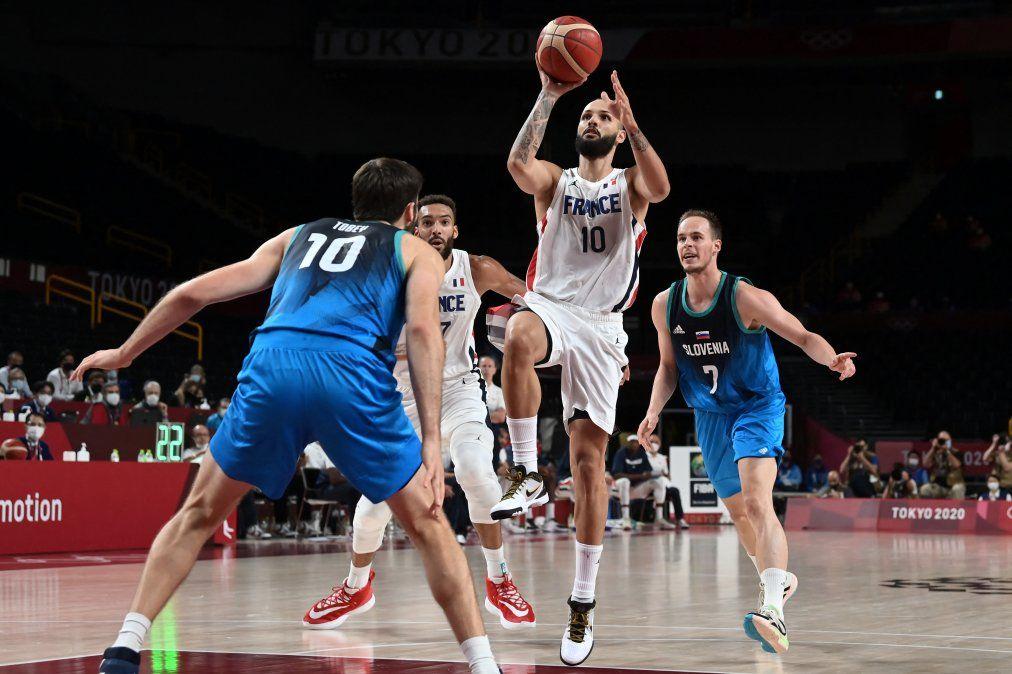 Francia puede con el  crack esloveno Doncic y jugará ante USA por el oro olímpico en basquet