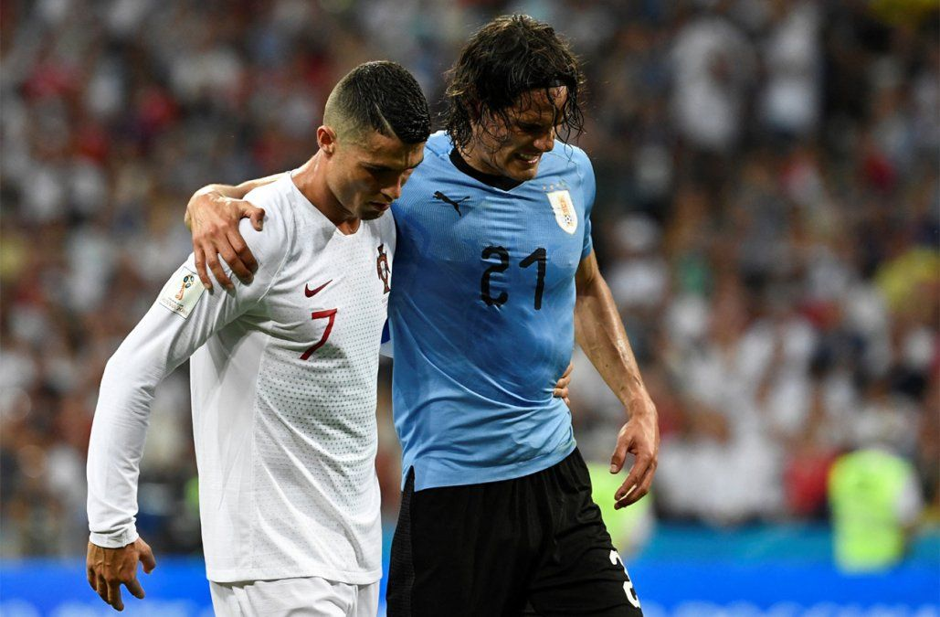 El gran gesto de Cavani que Cristiano Ronaldo agradeció de manera especial