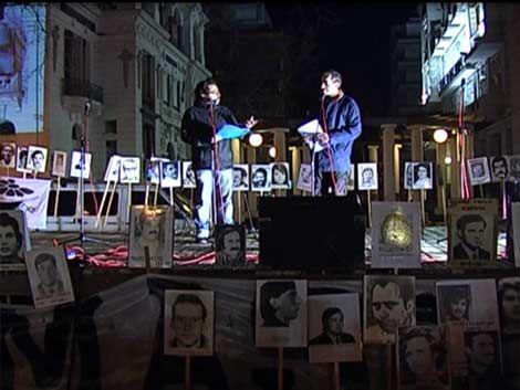 Familiares hicieron acto por el día del detenido desaparecido