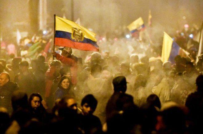 Protestas en Quito el 13 de octubre