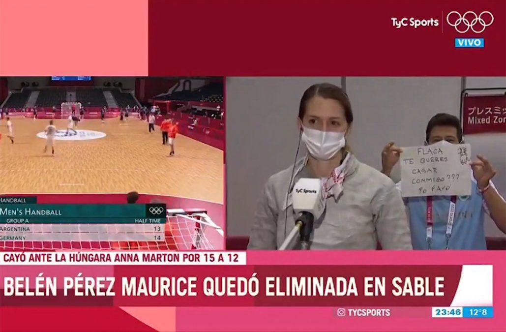 Flaca, te querés casar conmigo, la propuesta de casamiento en vivo en los juegos olímpicos