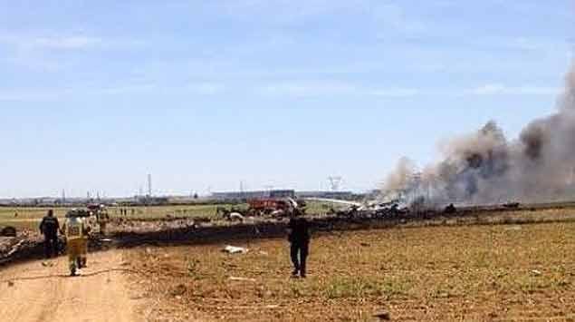 Se estrella un Airbus militar en el aeropuerto de Sevilla