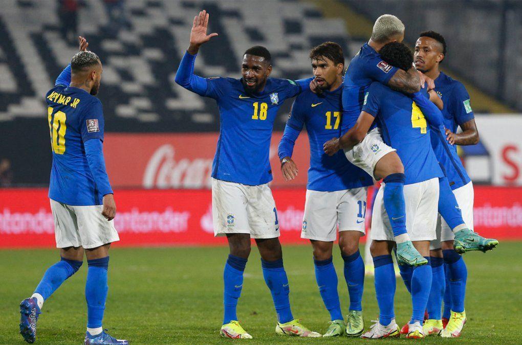 Brasil le ganó a Chile 1-0 a domicilio y se va expreso al Mundial de Qatar