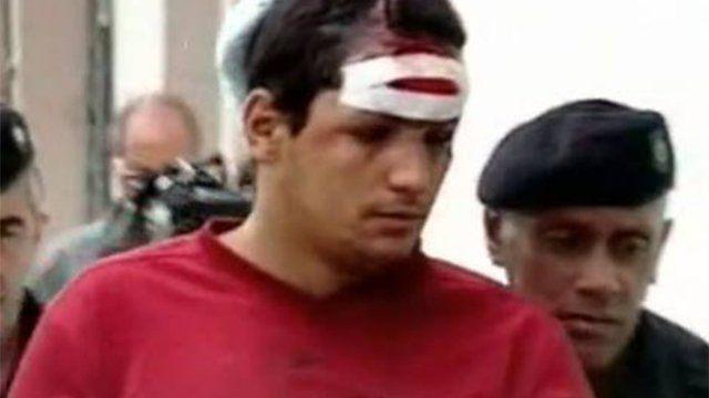 Betito Suárez capturado en 2006 tras el accidente en ruta 48 que le costó la vida a cuatro personas
